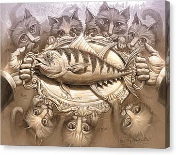 Canvas Print - Tuna On A Silver Platter by Jeff Haynie