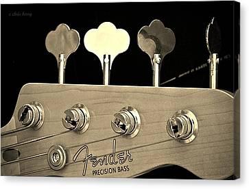 Fender Precision Bass Canvas Print by Chris Berry