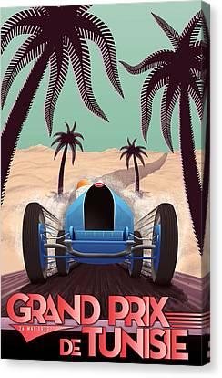 Tunisia Grand Prix 1933 Canvas Print by Georgia Fowler
