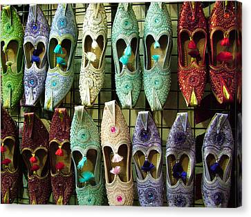 Canvas Print featuring the photograph Tunisian Shoes by Donna Corless