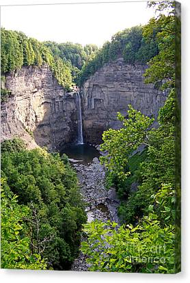Tunkhannock Falls 2 Canvas Print by Tom Doud