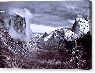 Yosemite Valley Canvas Print - Tunnel View In Yosemite by Alexis Birkill