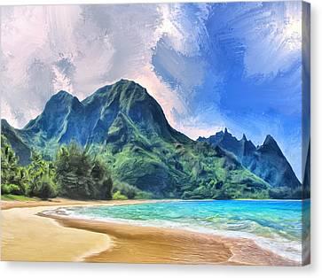 Tunnels Beach Kauai Canvas Print
