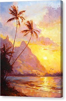 Tunnels Sunset Canvas Print