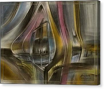 Canvas Print featuring the pastel Tunnelscape 2010 by Glenn Bautista