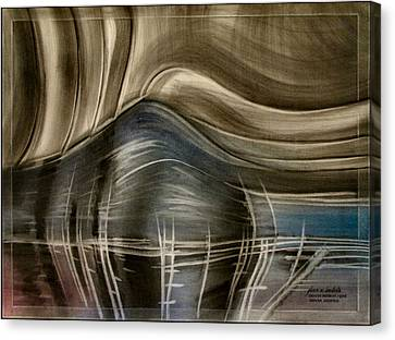 Canvas Print featuring the pastel Tunnelscapeb 2010 by Glenn Bautista