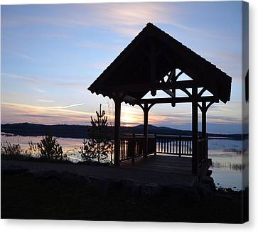 Tupper Lake Sunset Over Raquette Pond Canvas Print