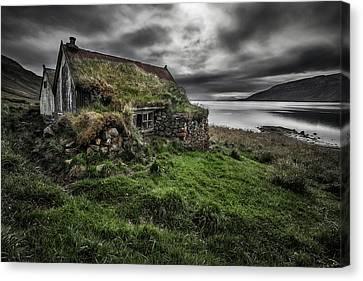 Abandoned House Canvas Print - Turf And Stones by Bragi Ingibergsson -
