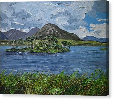 Derryclare Lake Recess Connemara Canvas Print by Diana Shephard