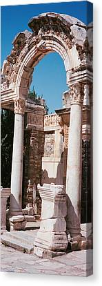 Turkey, Ephesus, Building Facade Canvas Print by Panoramic Images