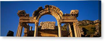 Turkey, Ephesus, Temple Ruins Canvas Print by Panoramic Images