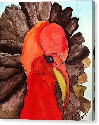 Turkey In Waiting Canvas Print
