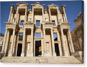 Turkey, Izmir, Kusadasi, Ephesus Canvas Print by Emily Wilson
