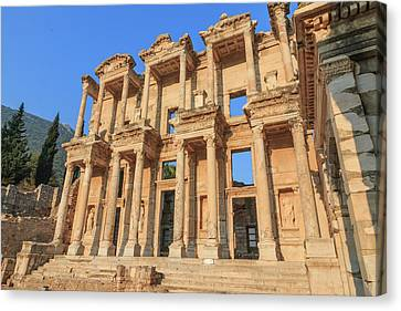 Library Of Celsus Canvas Print - Turkey, Izmir Province, Selcuk, Ancient by Emily Wilson