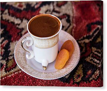 Turkey Turkish Coffee, Apricots Canvas Print by Emily Wilson