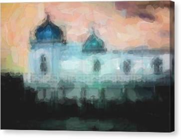 Turkish Bathhouse In Abstrac Watercolors Canvas Print by Tommytechno Sweden