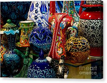 Turkish Ceramic Pottery 2 Canvas Print by David Smith