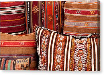 Turkish Cushions 01 Canvas Print by Rick Piper Photography