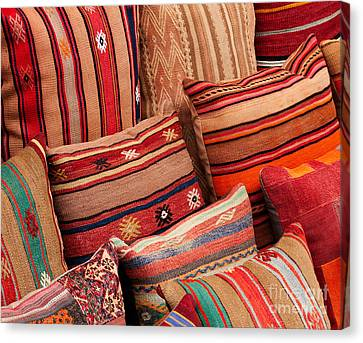 Turkish Cushions 02 Canvas Print by Rick Piper Photography