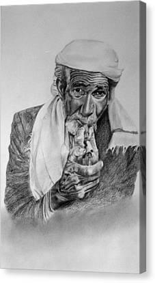 Turkish Smoker 2 Canvas Print
