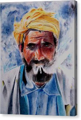 Turkish Smoker In Colour Canvas Print