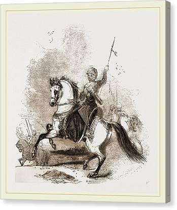 Turkish War Horse Canvas Print by Litz Collection
