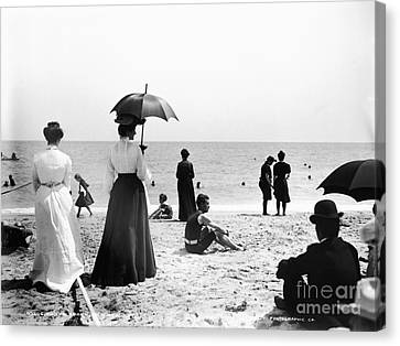 Turn Of The Century Palm Beach Canvas Print by LOC Science Source