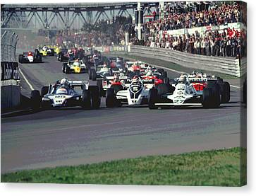 Canadian Grand Prix Canvas Print - Turn One by Mike Flynn