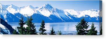 Turnagain Arm Girdwood Ak Usa Canvas Print by Panoramic Images