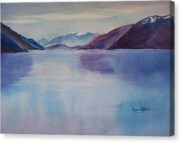 Turnagain Arm In Alaska Canvas Print by Karen Mattson