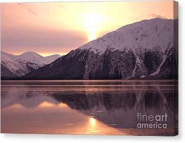 Turnagain Arm Morning Canvas Print by Crystal Magee