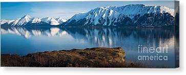 Cook Canvas Print - Turnagain Arm Mountain Range by Inge Johnsson