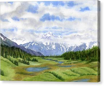 Turnagain Pass Mountain View Canvas Print by Sharon Freeman