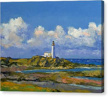Turnberry Lighthouse Canvas Print by Michael Creese