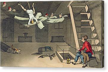 Turning In - And Out Again, Plate Canvas Print by Thomas Rowlandson