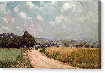 Turning Road Canvas Print by Alfred Sisley