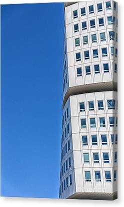 Turning Torso Skyscraper Canvas Print by Antony McAulay