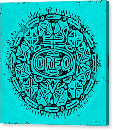 Turquoise Oreo Canvas Print by Rob Hans