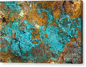 Canvas Print featuring the photograph Turquoise Abstract by Chris Scroggins