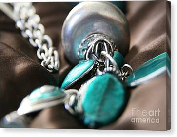 Canvas Print featuring the photograph Turquoise And Silver by Lynn England