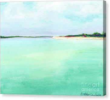 Turquoise Caribbean Beach Horizontal Canvas Print