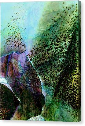 Turquoise Cascade Canvas Print by Shirley Sirois