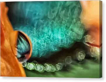 Canvas Print - Turquoise Damsel by Kenneth Haley
