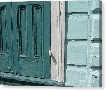 Canvas Print featuring the photograph Turquoise Door by Valerie Reeves