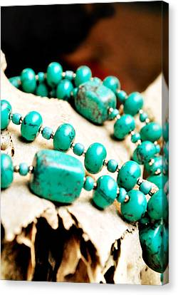 Turquoise Jewelry Canvas Print by Chastity Hoff