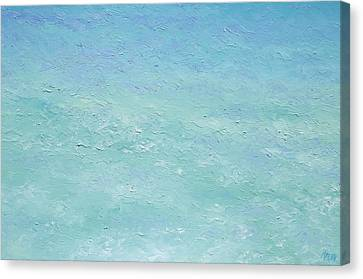 Turquoise Ocean 3 Canvas Print by Jan Matson