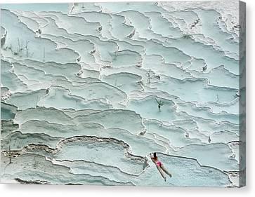 Tanning Canvas Print - Turquoise Paradise by Igor Tinak