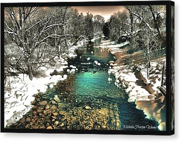 Canvas Print featuring the photograph Turquoise River  by Michaela Preston