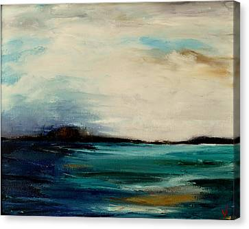 Turquoise Sea Canvas Print by Lindsay Frost