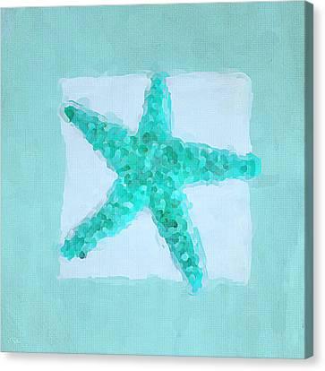Turquoise Seashells II Canvas Print